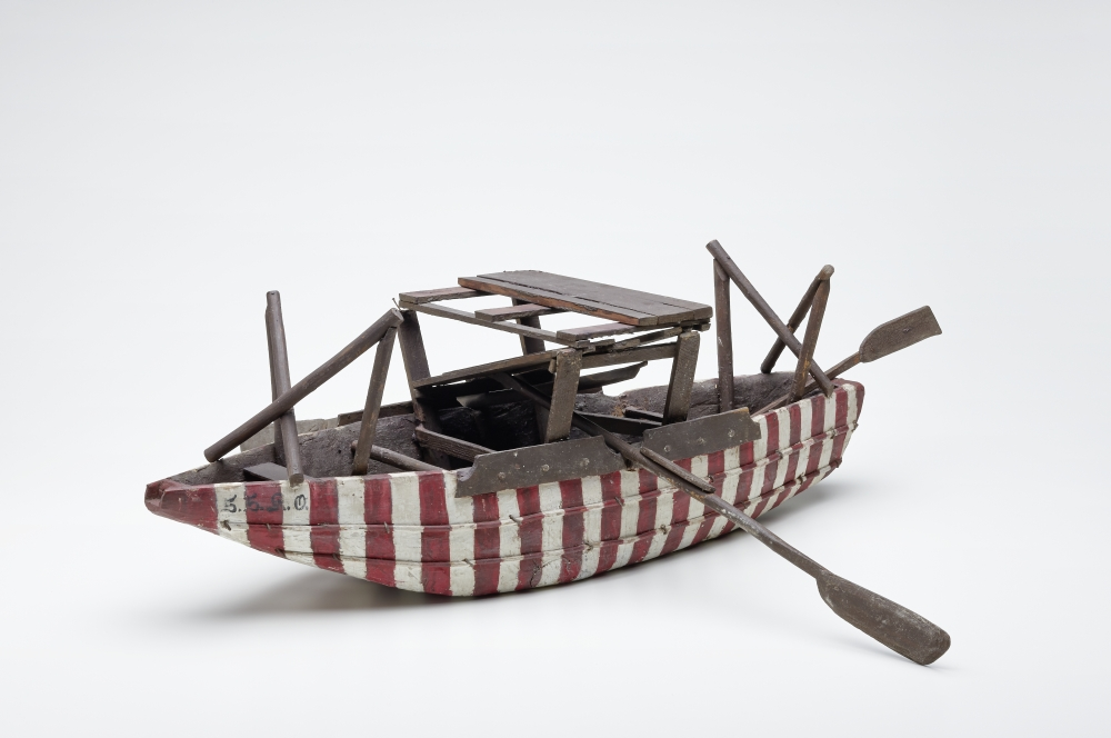 Model of a Hallasch, mid. 20th century, painted wood, © Salzburg Museum