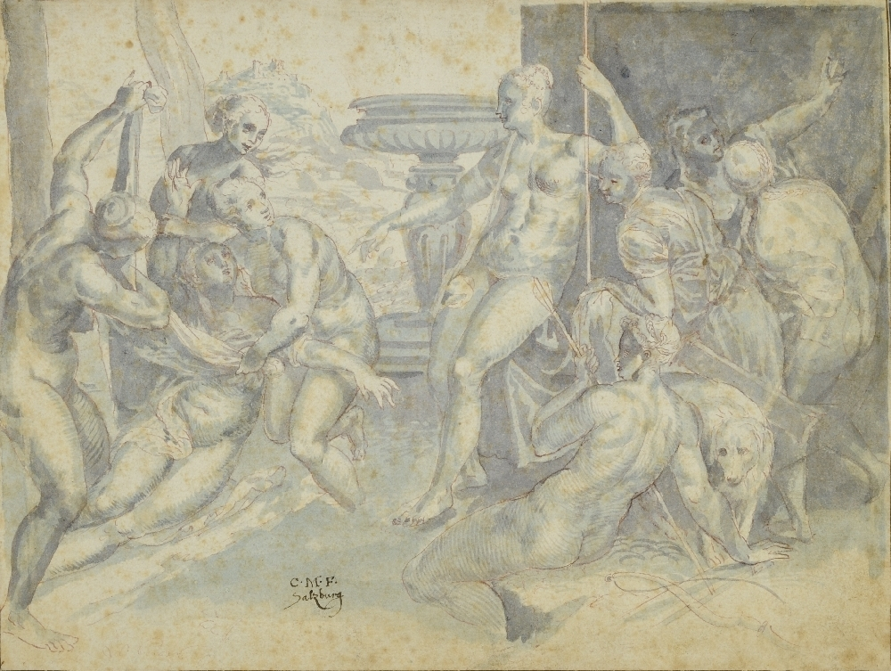 Diana and Callisto, Kaspar Memberger, ca. 1600, inv. no. 28-60