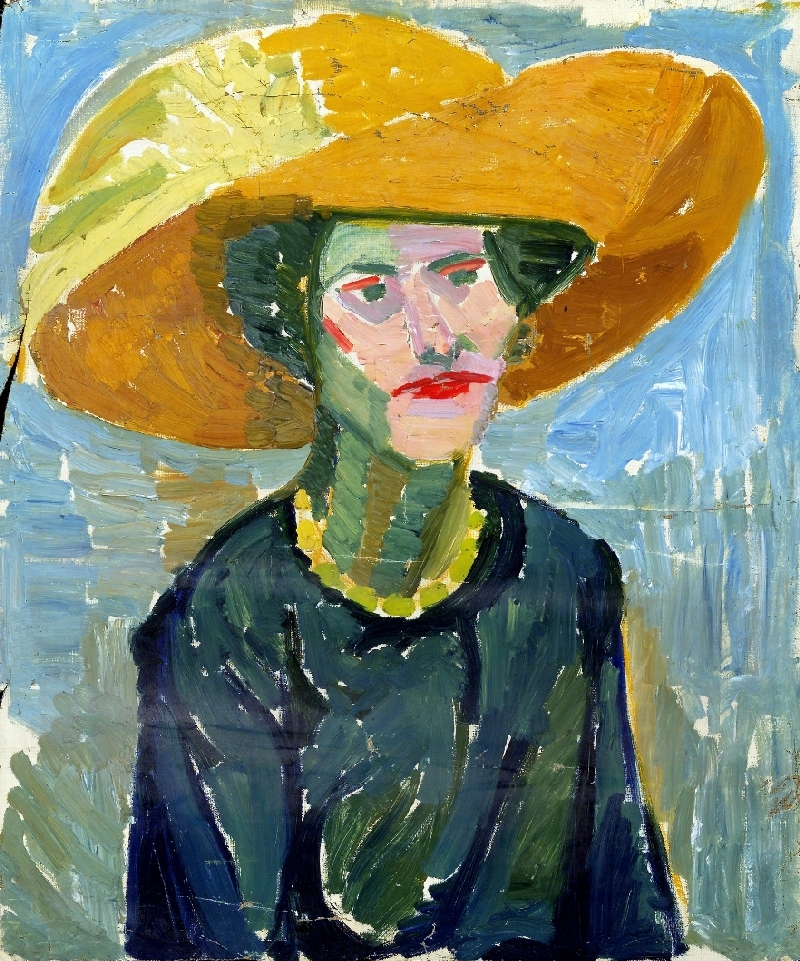 Lady with Yellow Hat, Helene von Taussig, 1920–30, oil on canvas, inv. no. 1280-95
