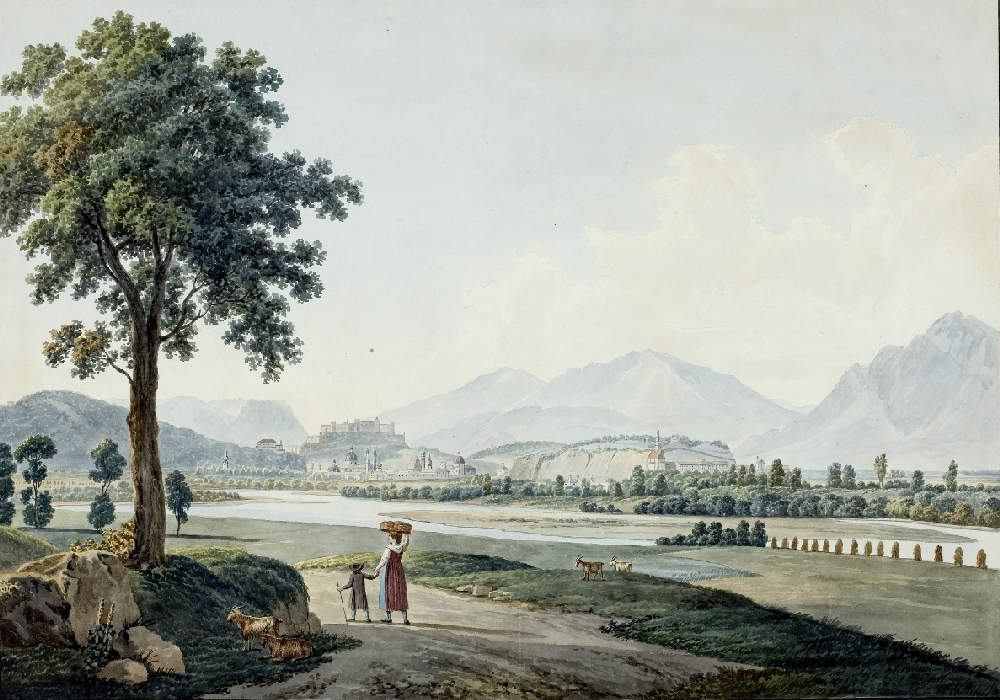 Salzburg from the North, Andreas Nesselthaler, ca. 1800, inv. no. 316-30