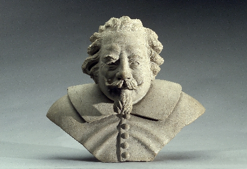 Portrait bust of the cathedral architect Santino Solari, 1st half 17th c., Untersberg marble, inv. no. 6043-49