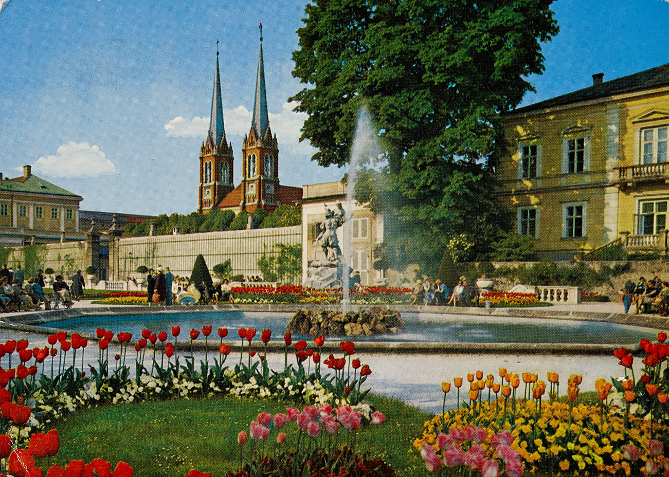 Mirabell Gardens and St. Andrew's Church, 1960-65, inv. no. F 23279