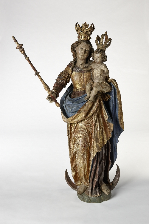 Strauchmüller Madonna, Hans Waldburger, 2nd quarter 17th c., wood, polychrome painting, inv. no. 1-65
