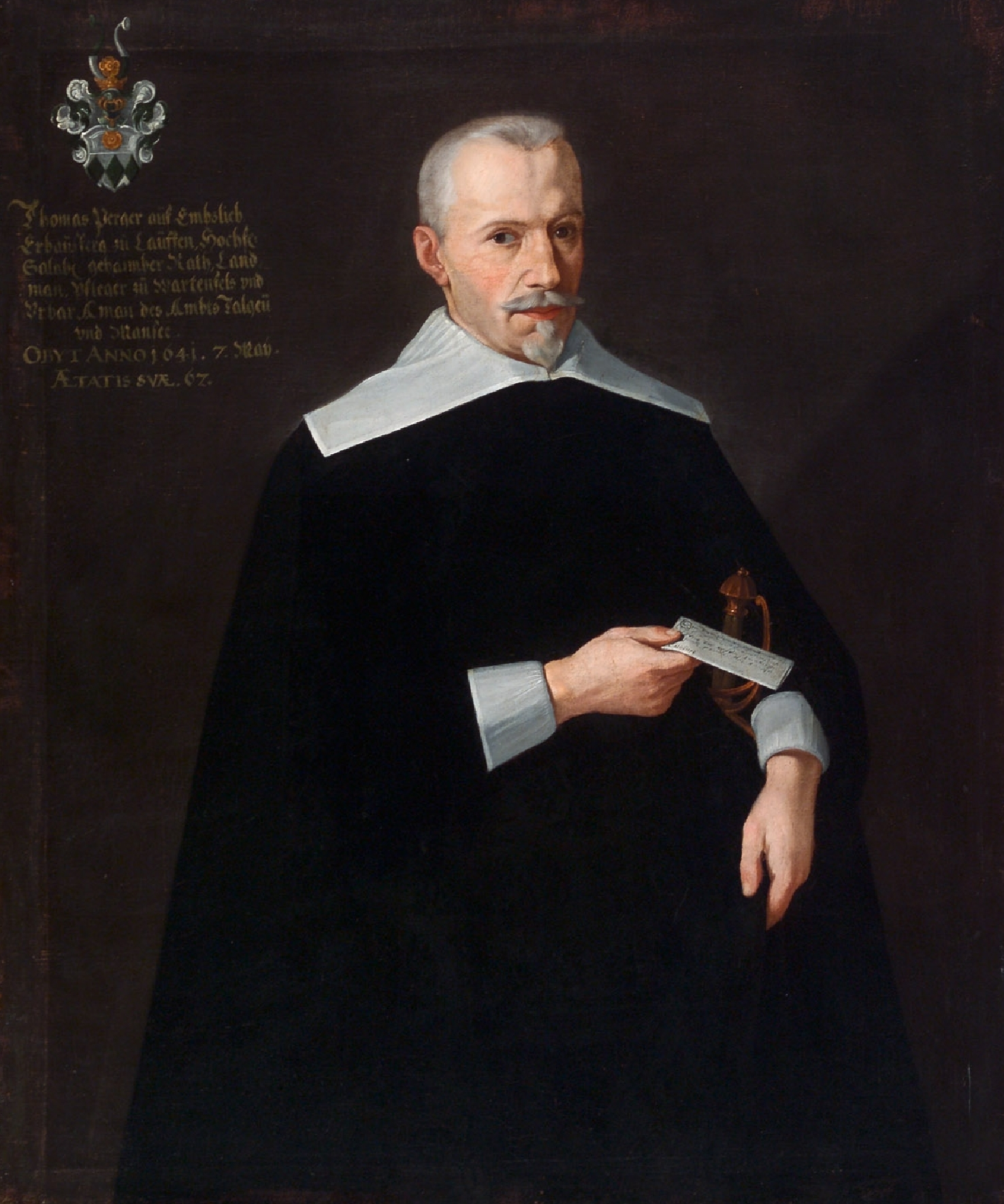 Portrait of the privy councillor Thomas Perger auf Emslieb, unknown artist, ca. 1640, oil on canvas, inv. no. 28-27