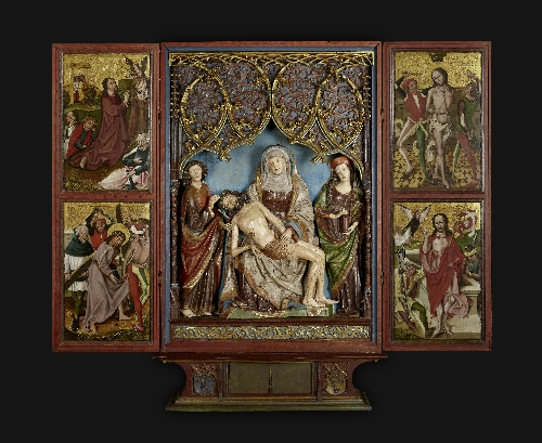 Rauris Altar (overall view), 1490–1500, wood, gilded and painted, inv. no. 1088 BDS-91