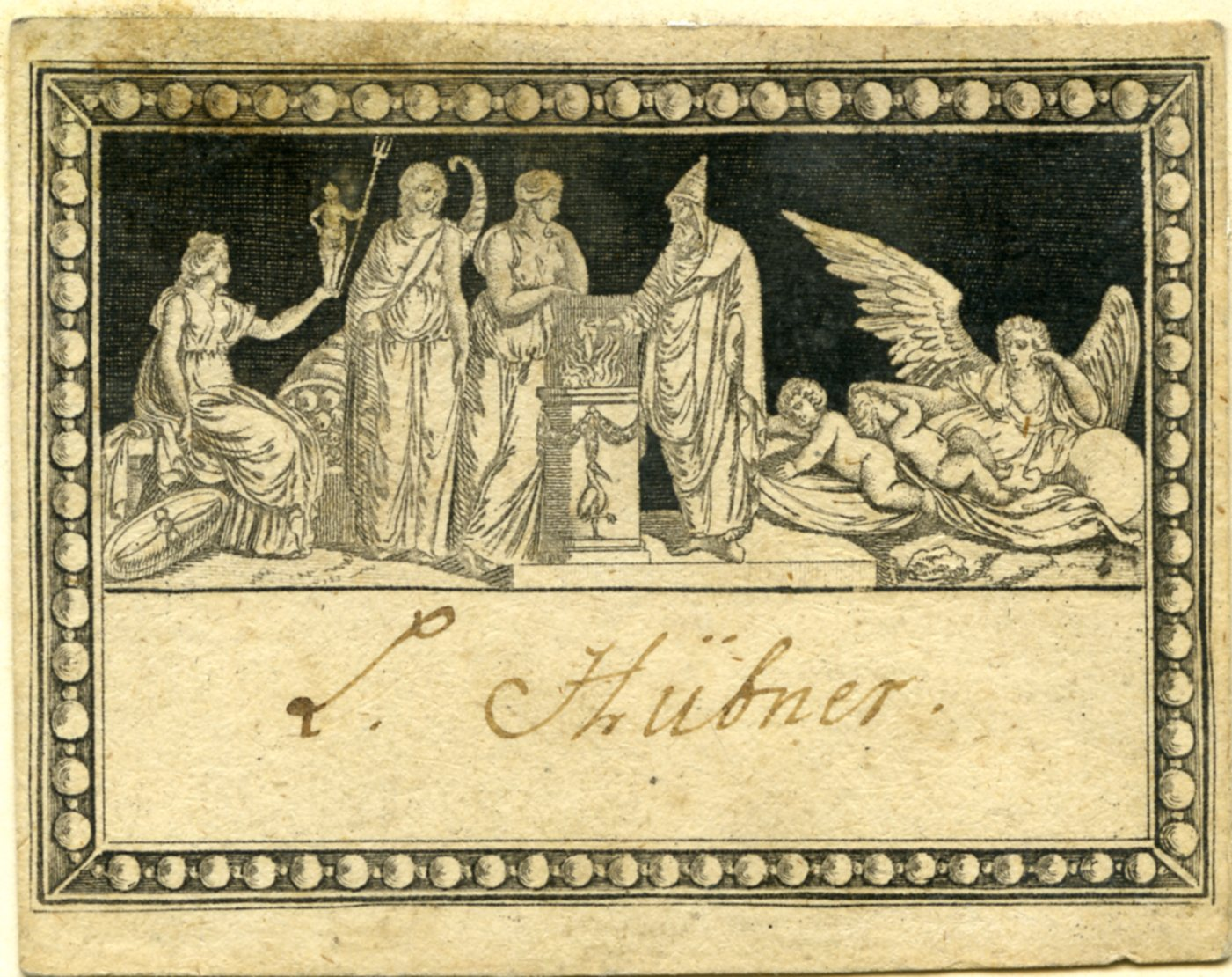 Anonymous, ex libris Lorenz Hübner, Salzburg, last fourth 18th c., paper, inv. no. BIB EXL 0003