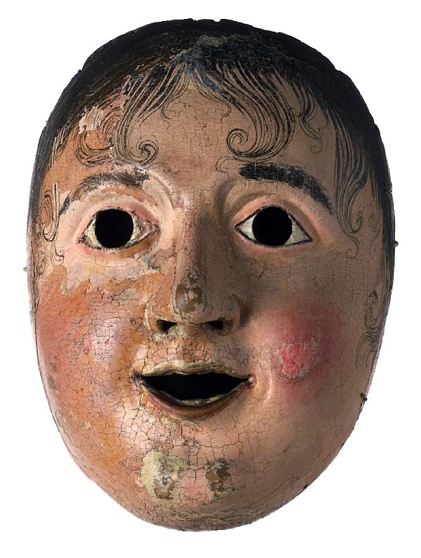 Carnival mask, Bavaria/Werdenfelser Land, late 18th/early 19th c., pine wood, carved, painted, inv. no. 5009-2003