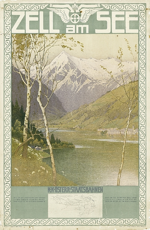 Gustav Jahn, print: Christoph Reissers Söhne, formerly Reisser & Werthner, poster of Zell am See...imperial and royal Austrian state railways, Vienna, ca. 1910, paper, lithography, inv. no. BIB PLA 02137