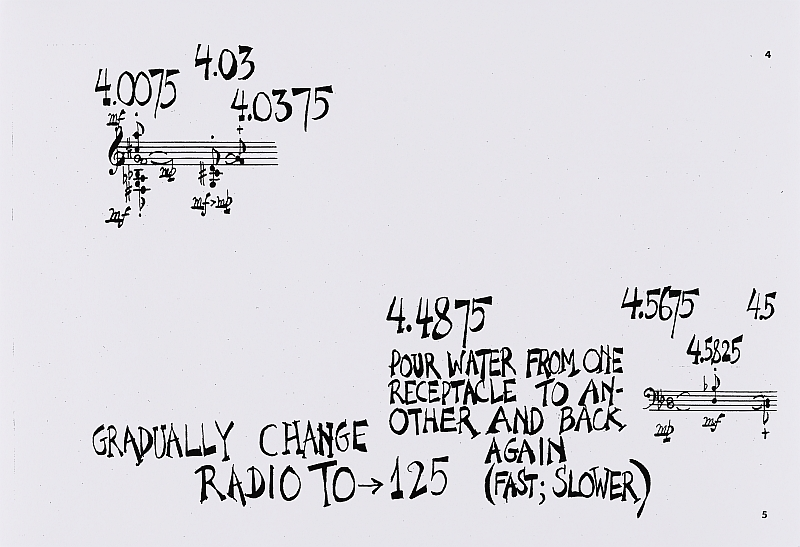 Water Music, John Cage, 1952, Partitur, Frankfurt: Edition Peters No. 6770, Privatarchiv, Salzburg